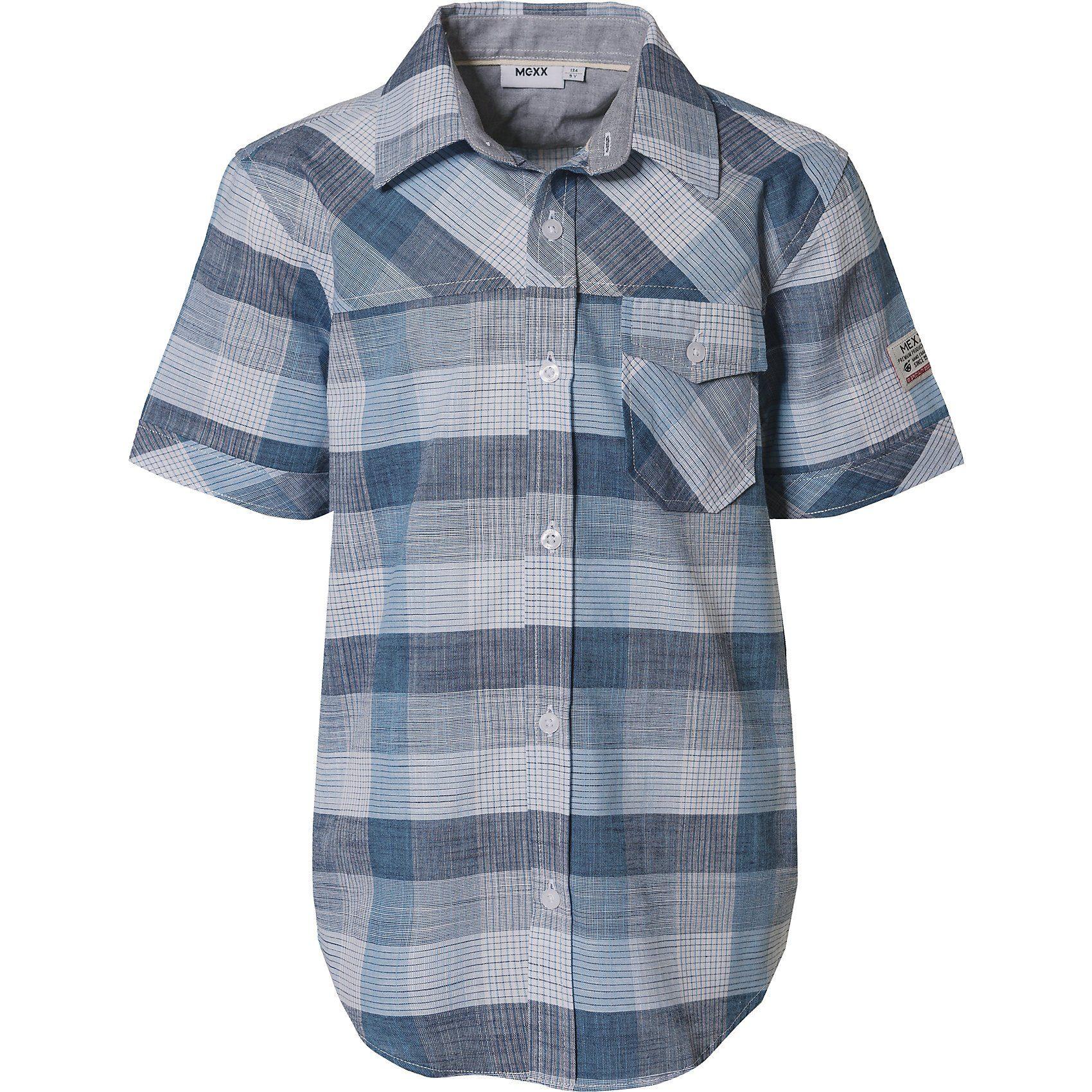 Herren,  Jungen,  Kinder Mexx Kurzarmhemd für Jungen blau   08719829205269