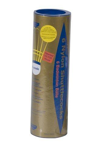 Badminton- Turnier- und Spielbälle, Victor, »Nylon gold« (6er Pack) in gelb