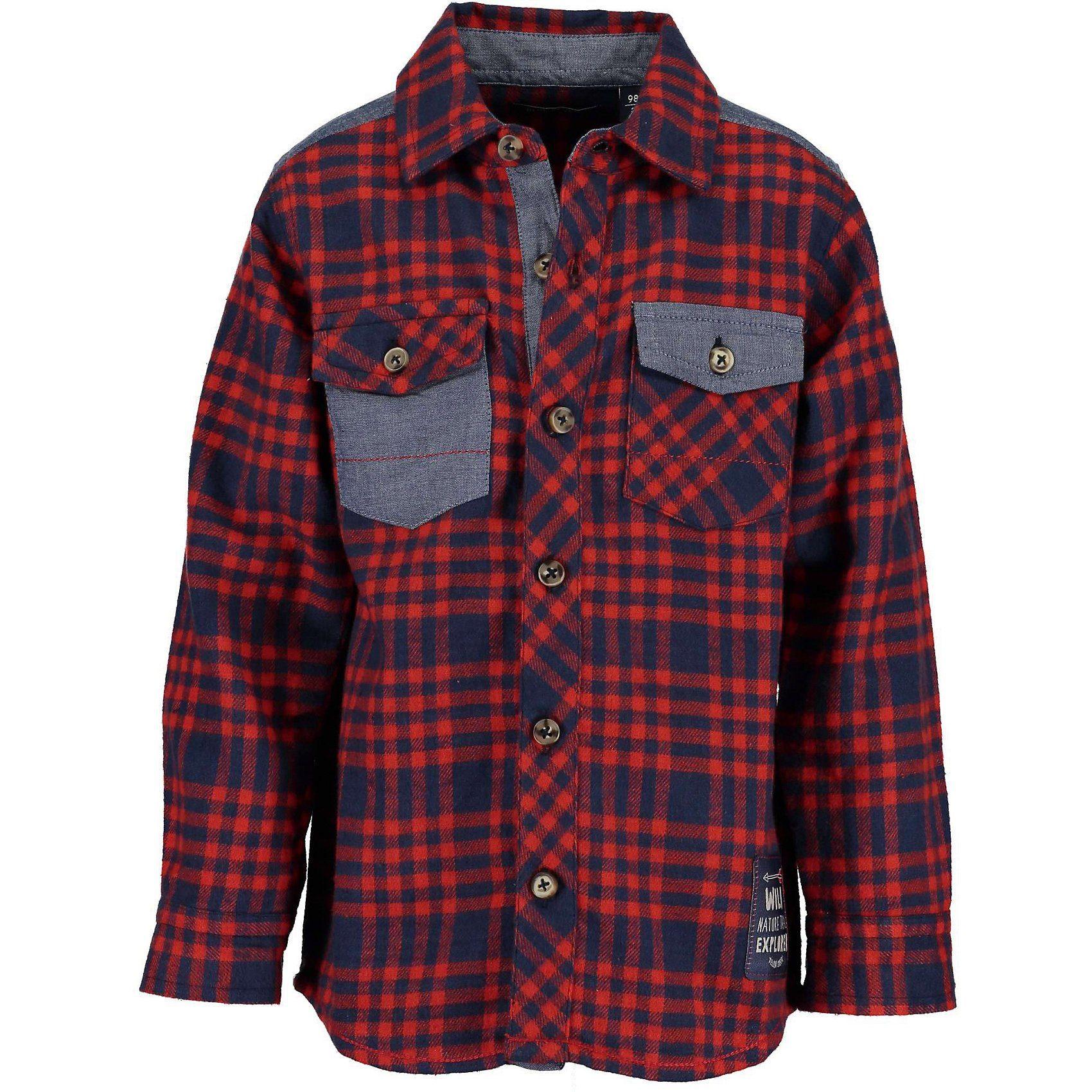 Herren,  Jungen,  Kinder Blue Seven Flanellhemd für Jungen rot   04055852630390