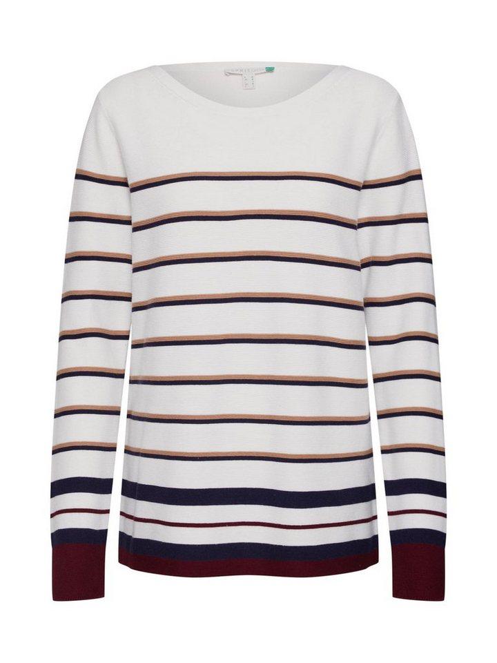 esprit rundhalspullover ocs striped swt sweaters otto. Black Bedroom Furniture Sets. Home Design Ideas