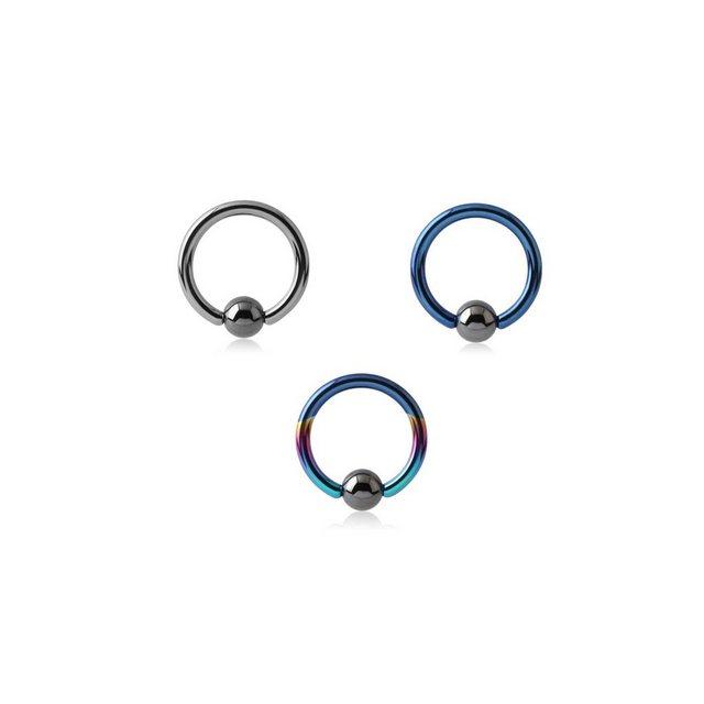 BodyJewel Piercing-Set »Ring, 3-teilig, Titan« | Schmuck > Piercings | BodyJewel