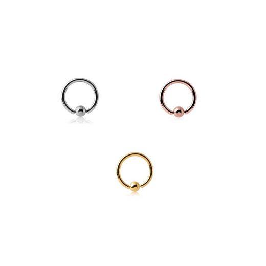 BodyJewel Piercing-Set »Ring, 3-teilig, Chirurgenstahl 316L«