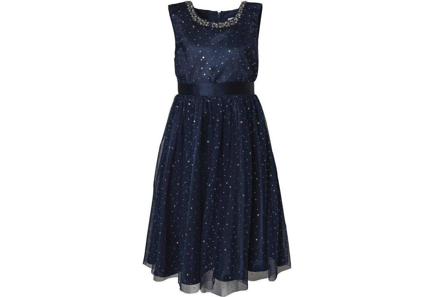 Damen,  Kinder happy girls Kinder Kleid mit Glitzer blau | 04250076670225