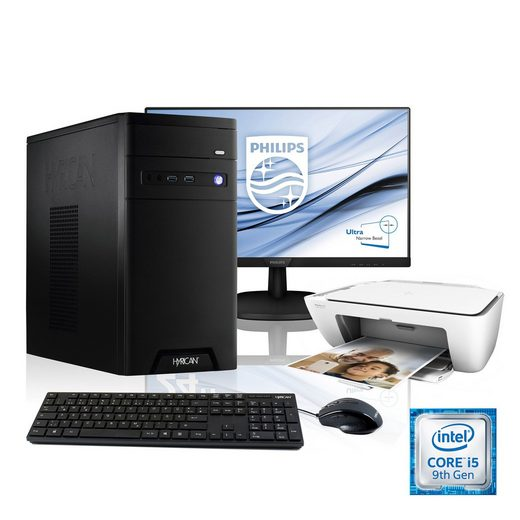 Hyrican PC i5-9400F, GTX 1650 + 61 cm (24) TFT + Drucker AIO »CyberGamer SET1894«