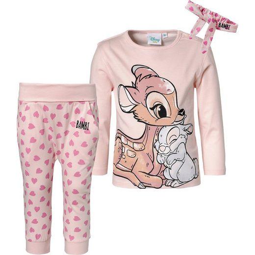 Disney Bambi Baby Set Langarmshirt + Softbundhose + Stirnban