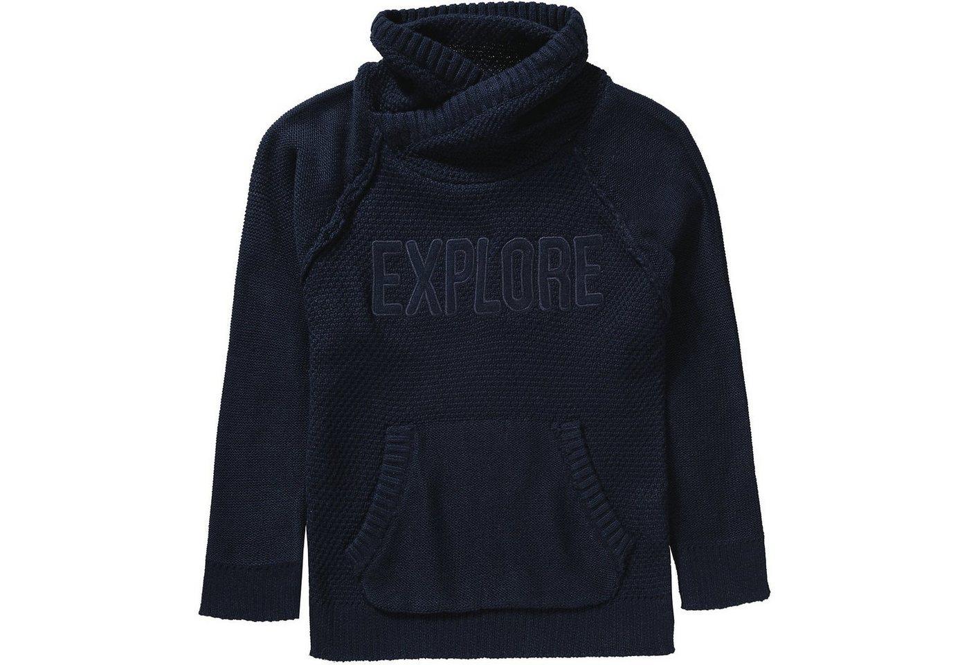 Herren,  Jungen,  Kinder,  Kinder REVIEW for Kids Pullover mit Schalkragen für Jungen blau | 04061449322692