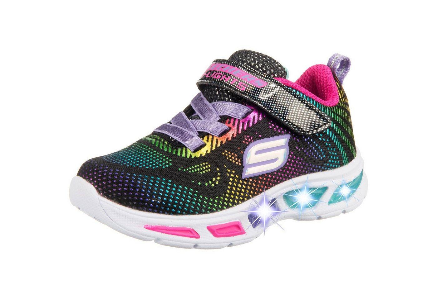 Mädchen,  Kinder,  Unisex Skechers Sneakers Low Blinkies LITEBEAMS GLEAM N' DREAM für Mädchen schwarz | 00192283453649