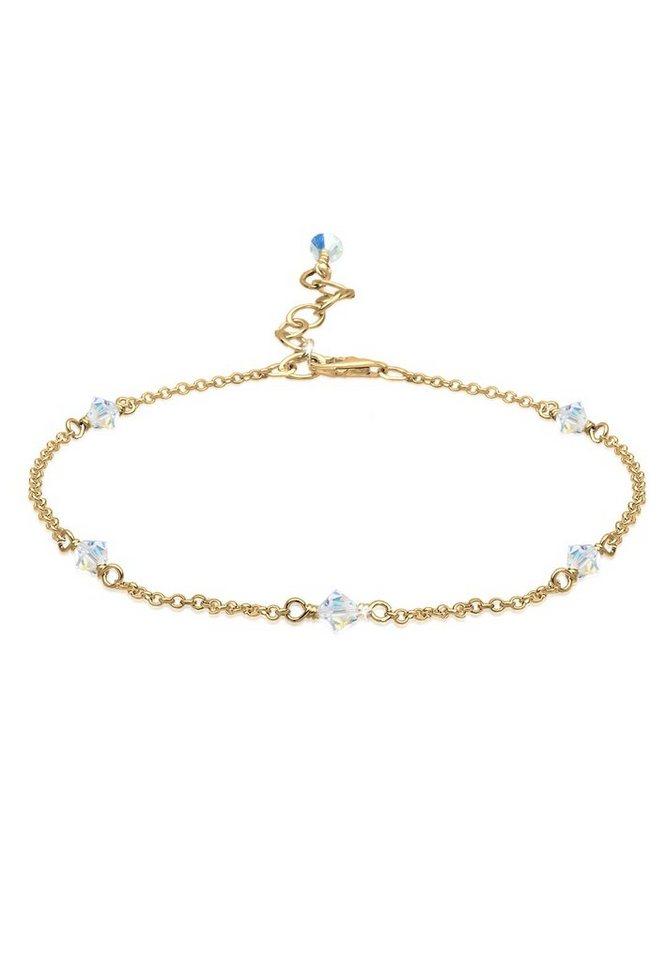 Elli Fußkette »Swarovski Kristalle 925 Sterling Silber« | Schmuck > Fußschmuck | Goldfarben | Elli