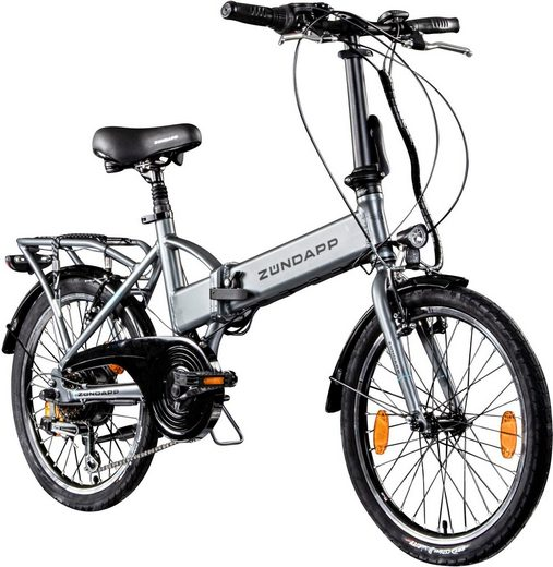 Zündapp E-Bike »Z101«, 6 Gang Shimano Tourney Schaltwerk, Kettenschaltung, Heckmotor 250 W