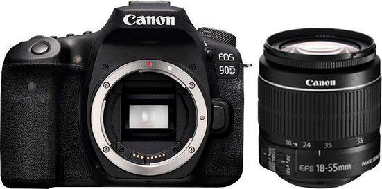 Canon »EOS 90D EF-S 18-55mm f/3.5-5.6 IS STM« Spiegelreflexkamera (Canon EF-S 18-55mm f/3.5-5.6 IS II, 32,5 MP, WLAN (Wi-Fi), Bluetooth)