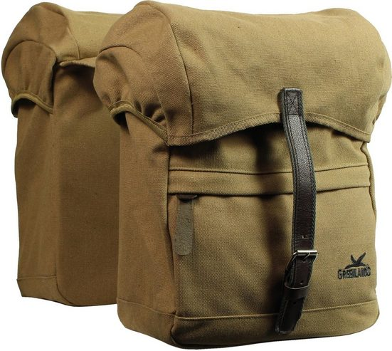 Greenlands Fahrradtasche »Greenlands Doppel Tasche Travel Canvas«
