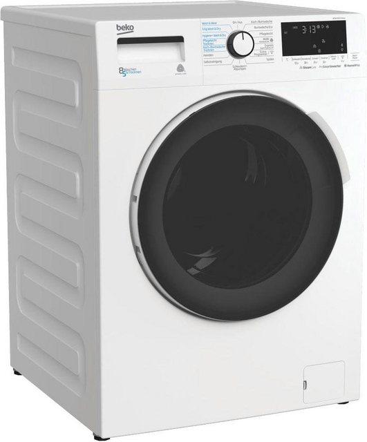 BEKO Waschtrockner WDW 85141 Steam, 8 kg/5 kg, 1400 U/Min, Dampffunktion