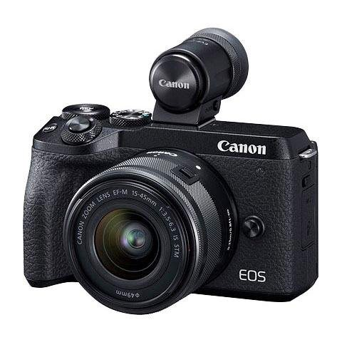 Systemkameras - Canon »EOS M6 MarkII EF M 15 45mm f 3.5 6.3 IS STM Kit« Systemkamera (EF M 15 45mm f 3.5 6.3 IS STM, 32,5 MP, WLAN (Wi Fi), Bluetooth)  - Onlineshop OTTO