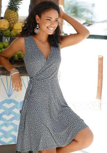 s.Oliver Beachwear Strandkleid mit zartem Blumenprint