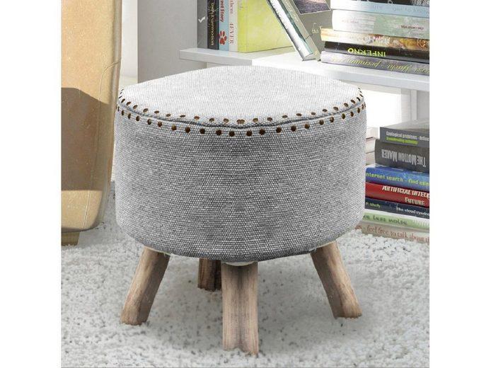 Home Affaire Sitzhocker »Alfred«, in Handarbeit hergestellt