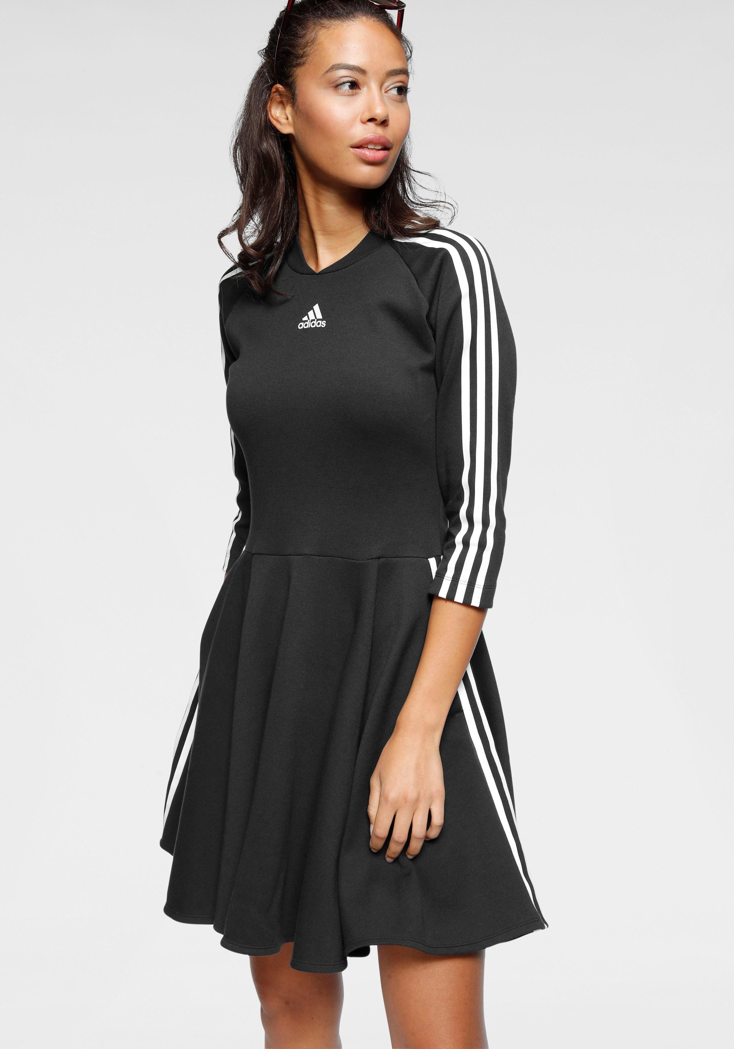 Adidas Originals Kleid mit Logo-Streifen und Allover-Muster Damen Kleid  34 40