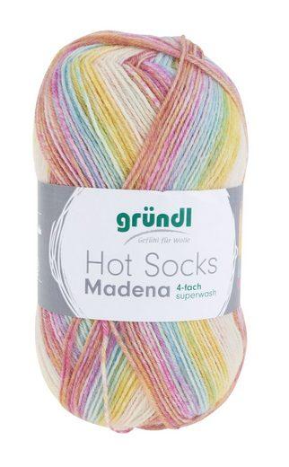 """Gründl Sockenwolle """"Hot Socks Madena"""" 100 g 4-fädig"""
