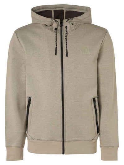 NO EXCESS Sweatjacke »Sweater Full Zipper Hooded Double F« (1-tlg)