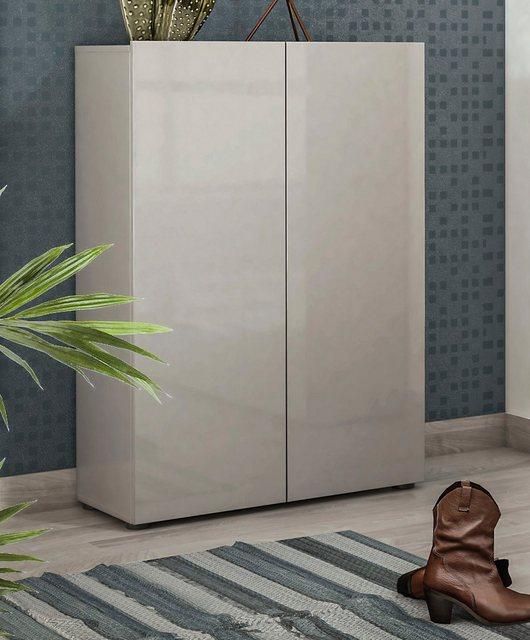 KITALY Schuhschrank »Mister« Breite 80 cm, 2 Türen, Hochglanz Lackiert