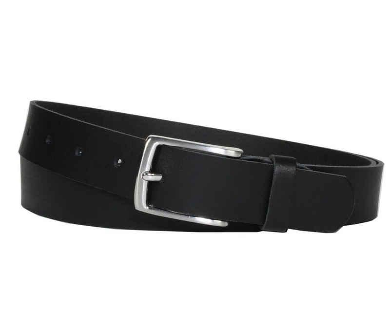 COLOGNEBELT Ledergürtel »C10-SL« 3 cm breiter Ledergürtel in Schwarz mit feiner Gürtelschnalle