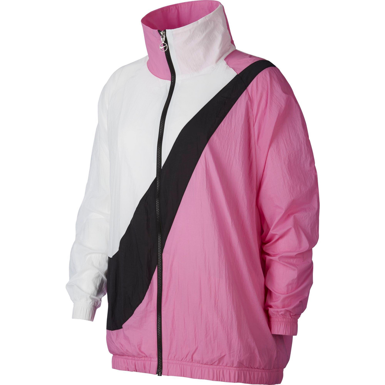 Jacke Funktionsjacke Gr 40 weiß schwarz leichte Laufjacke Nylonjacke