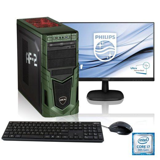 Hyrican »Military Gaming SET1903« Gaming-PC-Komplettsystem (27 Zoll, Intel Core i7, RTX 2060, 16 GB RAM, 1000 GB HDD, 480 GB SSD)