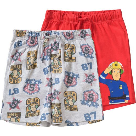 Feuerwehrmann Sam Doppelpack Shorts für Jungen