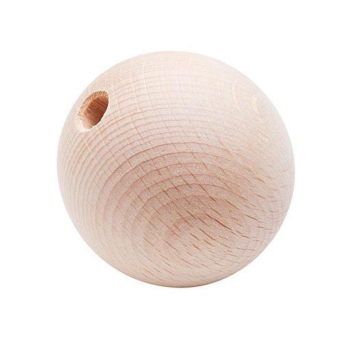 Holzkugel, Ø 50 mm, halbgebohrt