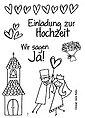 """Clear Stempel-Set """"Hochzeit"""", Bild 2"""