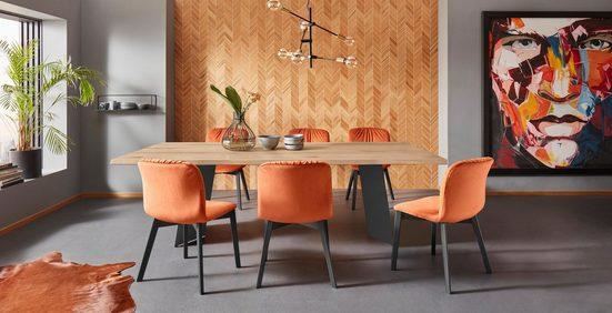 Places of Style Esstisch »Plus«, in drei unterschiedlichen Tischbreiten, mit schönem schwarzen Metallgestell