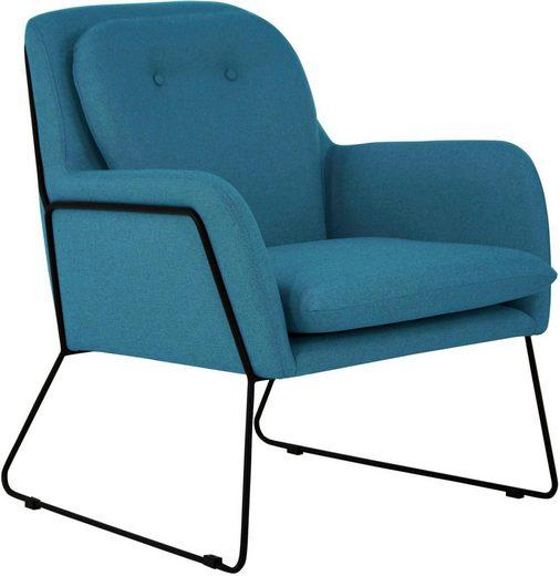 INOSIGN Sessel »Flin«  mit Knöpfen und Kissenoptik im Rücken