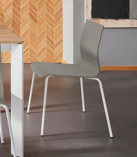 Places of Style Esszimmerstuhl »Juma« 2er Set, aus schönem massivem, lackierten Buchenholz, Sitzhöhe 45 cm