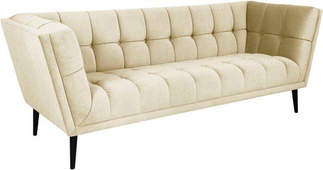 Sofas - INOSIGN 3 Sitzer »Windsor«, wunderschönes Design in 4 Bezugsqualitäten, hochwertige Schale mit Steppung  - Onlineshop OTTO