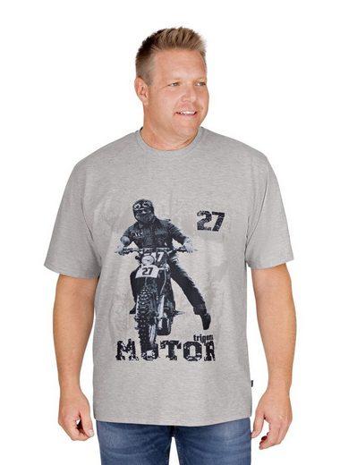 Trigema T-Shirt mit Motorrad-Druckmotiv