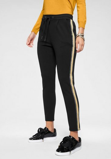 HaILY'S Jogger Pants »GRETA« mit kontrastfarbenem Glitzerstreifen