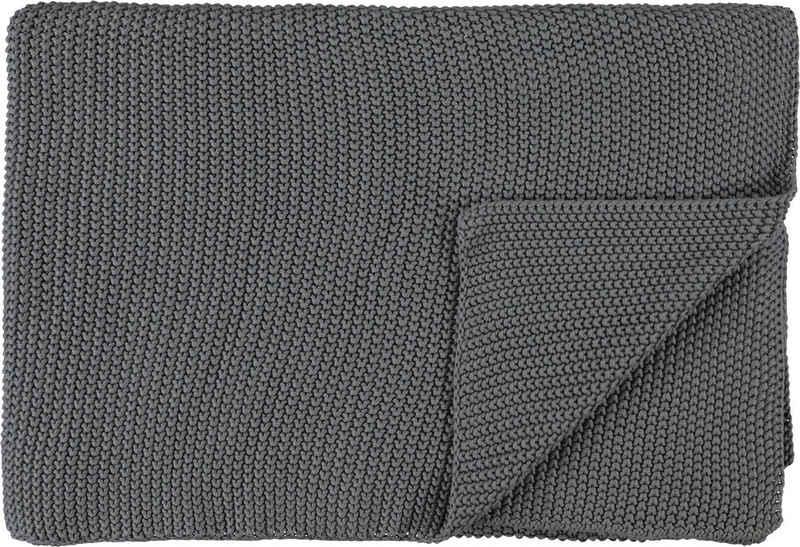 Plaid »Nordic Knit«, Marc O'Polo Home, GOTS zertifiziert - nachhaltig aus Bio-Baumwolle