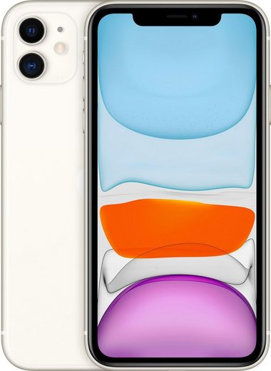 Apple iPhone 11 Smartphone (15,5 cm/6,1 Zoll, 128 GB Speicherplatz, 12 MP Kamera, inkl. Lightning Kabel und Earpods)