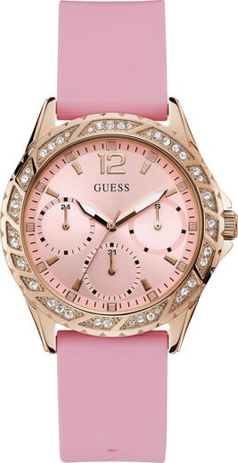 Guess Multifunktionsuhr »SPARKLING PINK, W0032L9«