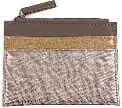 styleBREAKER Mini Geldbörse »Mini Geldbörse 3-Farbig Material Mix«, Mini Geldbörse 3-Farbig Material Mix