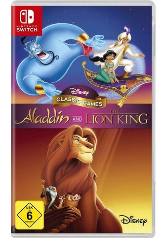DISNEY Aladdin and The Lion King Nintendo Swi...