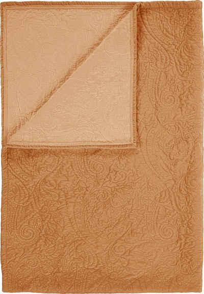 Tagesdecke »Roeby«, Essenza, mit elegant gesticktem Paisley-Muster