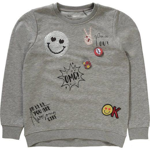 STACCATO Sweatshirt mit Wendepailletten für Mädchen