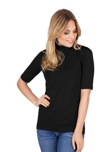 Trigema T-Shirt mit elastischem Stehkragen