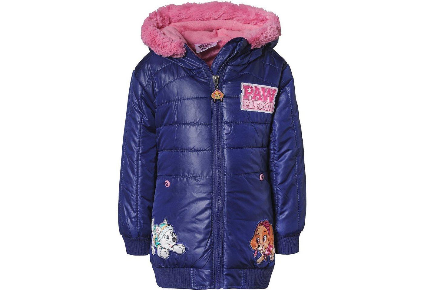 Damen,  Mädchen,  Kinder PAW Patrol Winterjacke mit Kapuze für Mädchen rosa | 03609083016785