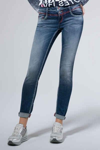 SOCCX Slim-fit-Jeans mit breiten Nähten