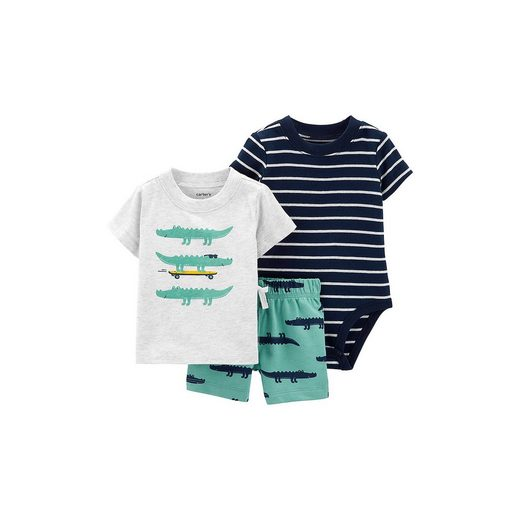 Carter`s Baby Set T-Shirt + Kurzarmbody + Shorts für Jungen