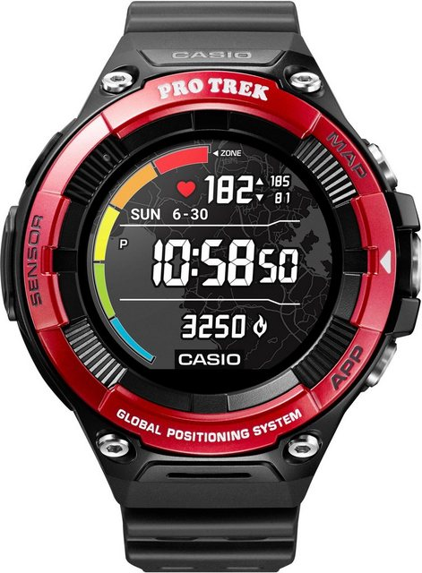 Smartwatches - CASIO PRO TREK Smart PRO TREK Smart, WSD F21HR RDBGE Smartwatch (Wear OS by Google)  - Onlineshop OTTO