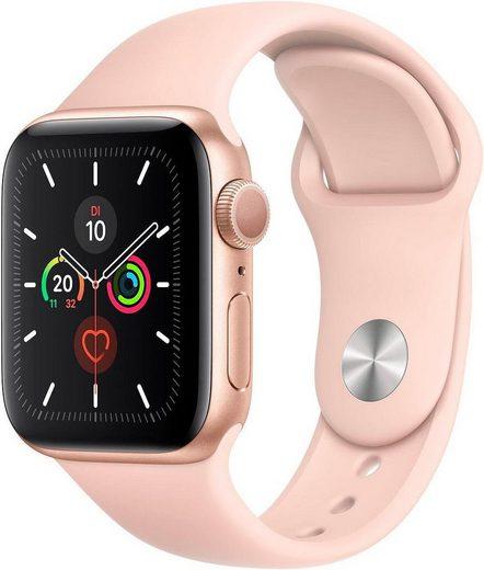 Apple Series 5 GPS, Aluminiumgehäuse mit Sportarmband 40mm Watch (Watch OS 6)