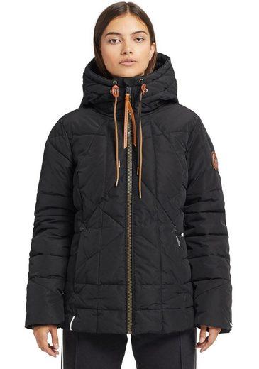 khujo Steppjacke »JADEA« stylische Winterjacke mit Kapuze