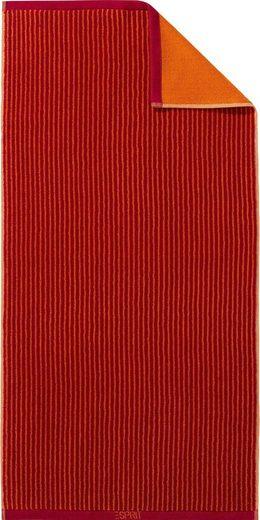 Esprit Handtuch »Pinstripe« (2-St), mit Wendeseite
